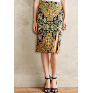 Anthropologie Tapestry High Waist Pencil Skirt
